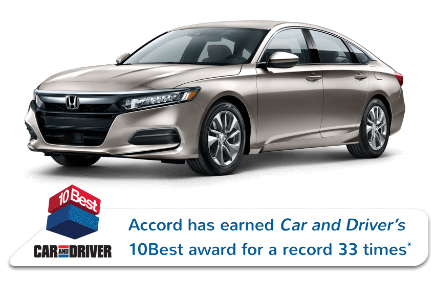 Honda Accord Sedan Car and Driver Award Image