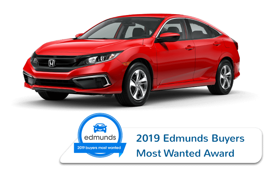 Honda Civic Sedan Edmunds Award Image