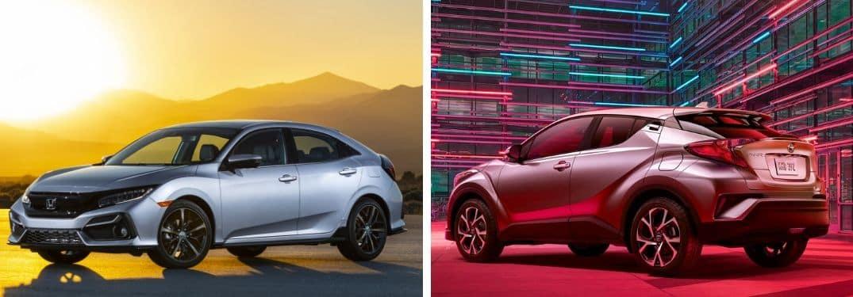 2020 Honda Civic Hatchback vs 2020 Toyota C-HR