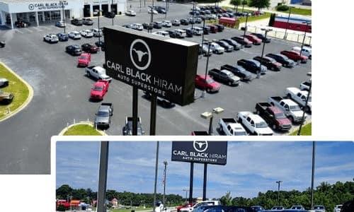 Carl Black Hiram dealership and car lot selection exterior shots