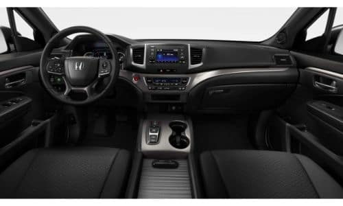 2019 Honda Passport Sport Interior Black Cloth Seating Upholstery