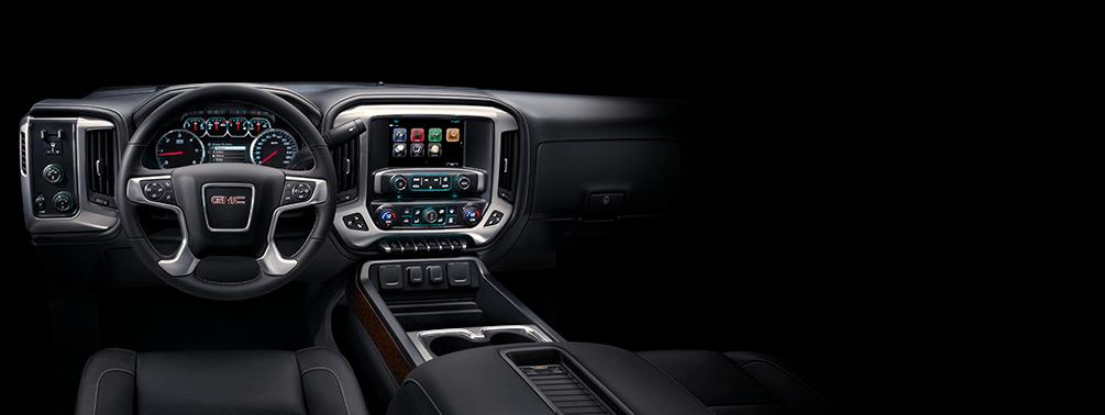 GMC Truck Interior of a 2018 Sierra 1500