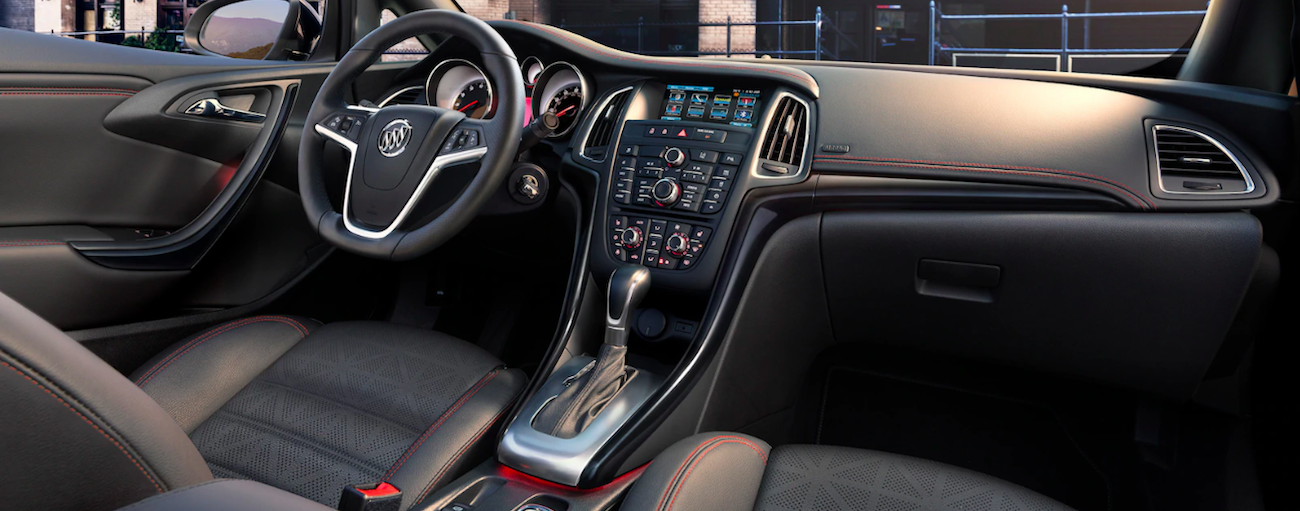 Black dashboard of 2019 Buick Cascada