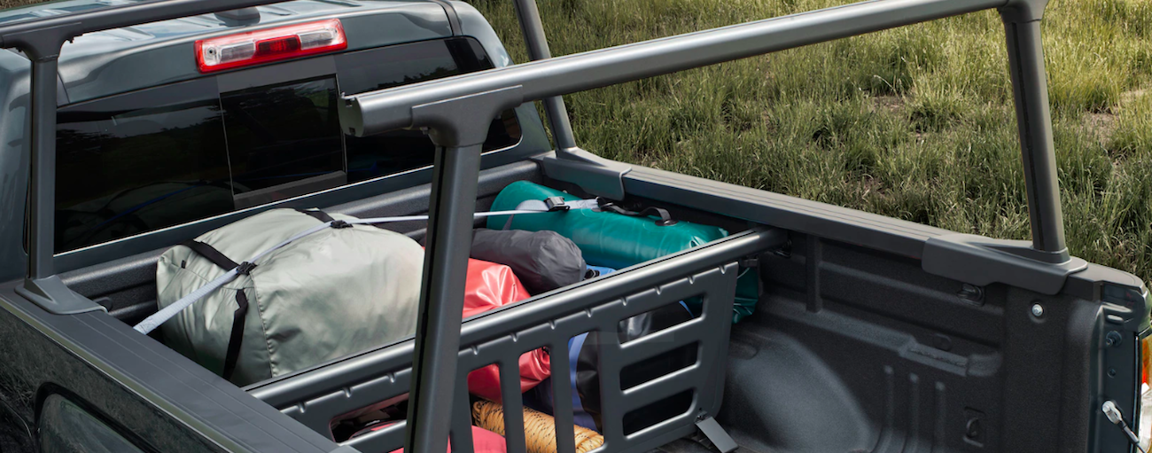 Luggage in 2019 GMC Canyon bed