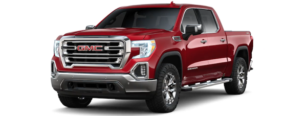 Red 2019 GMC Sierra 1500 on white