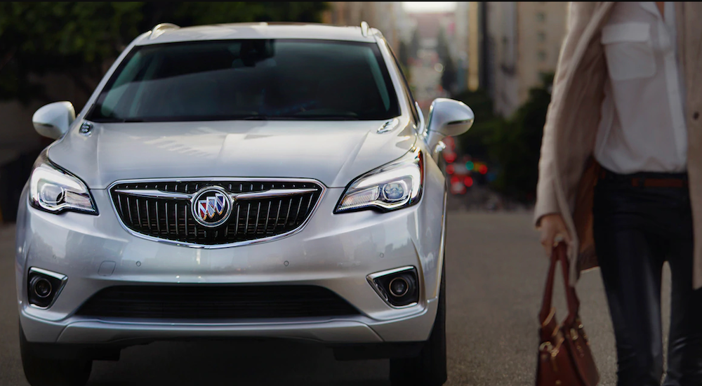 A silver 2019 Buick Envision from a local Roswell Buick dealer