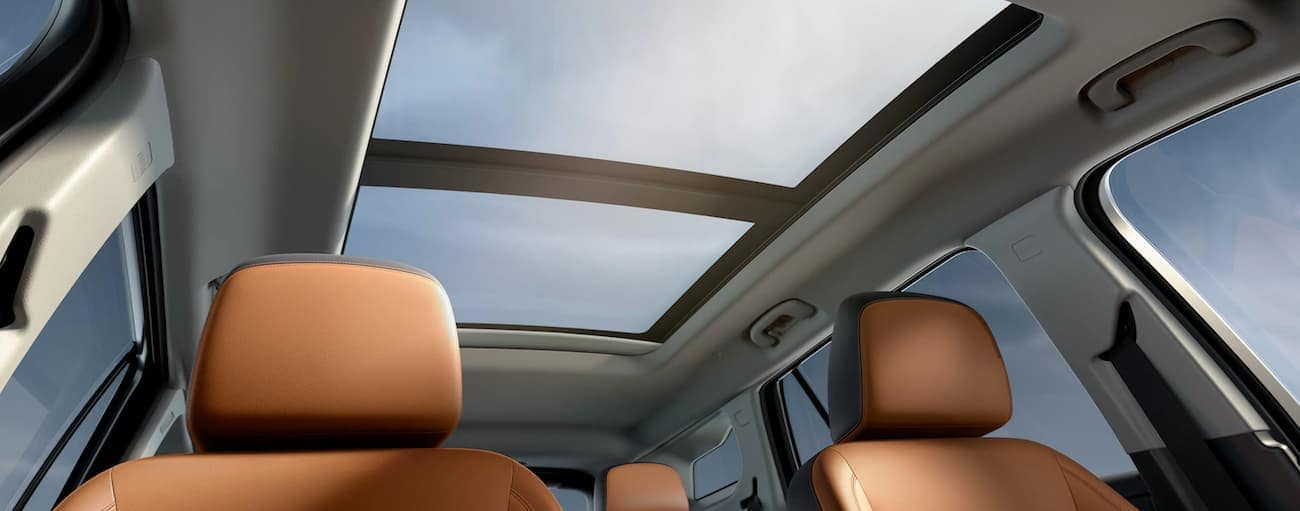 A look at the 2019 GMC Terrain interior and the sunroof