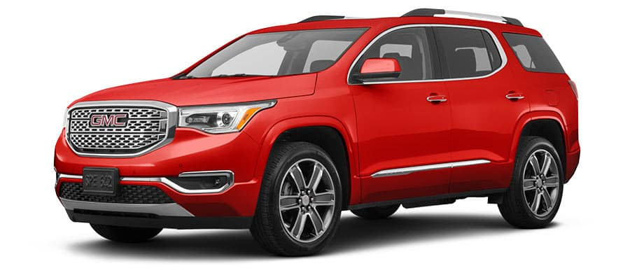 2019 gmc acadia denali red