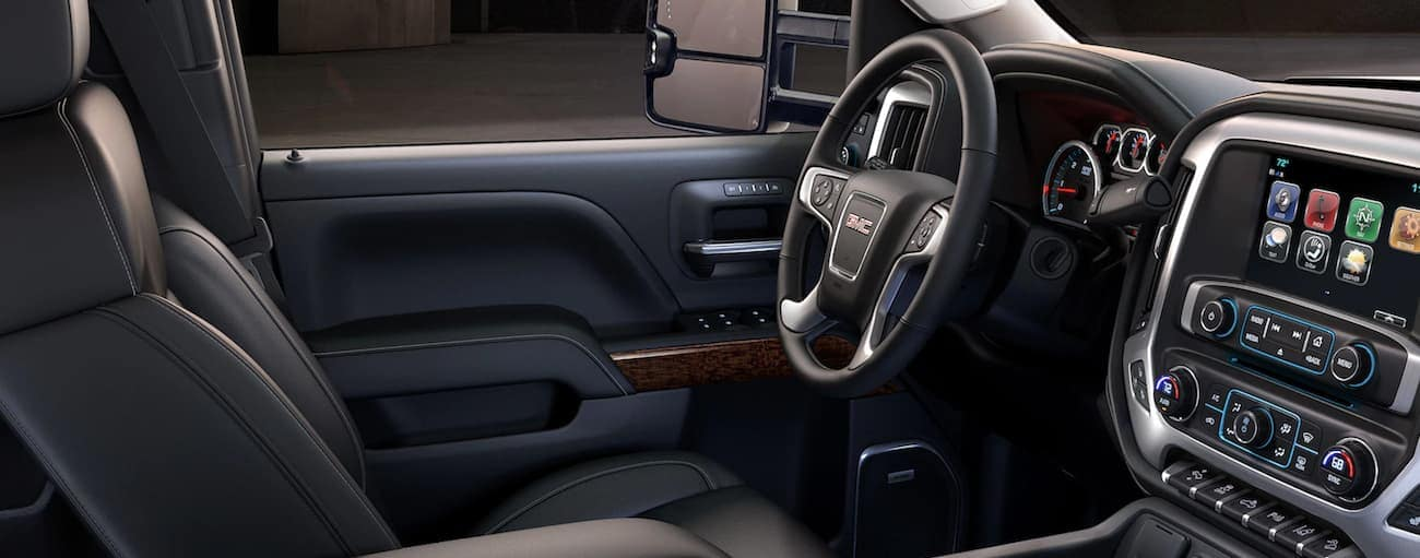 A look at the luxurious interior of a Sierra HD, one of the reasons it won 2019 GMC Sierra 2500 HD vs 2019 Ford F-250