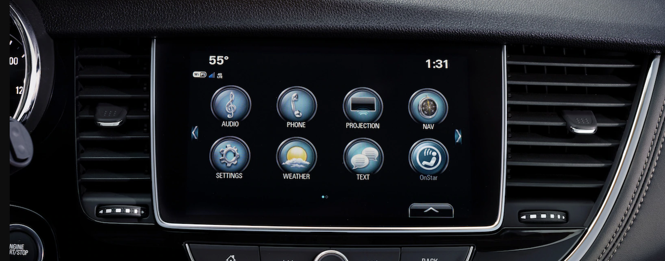 The Infotainment system in the 2019 Buick Encore
