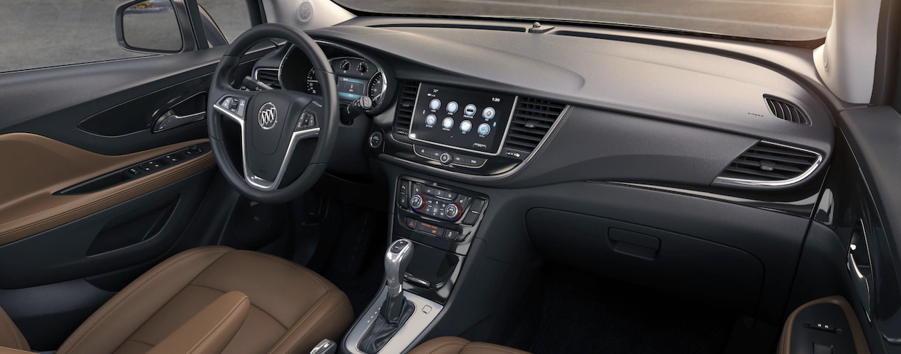 The tech filled dash of the 2019 Buick Encore