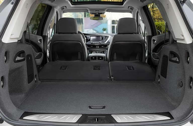 cargo area with rear seats folded flat in 2019 Buick Envision