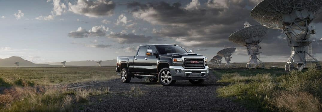 2019 GMC Sierra 2500 HD parked on wide open terrain