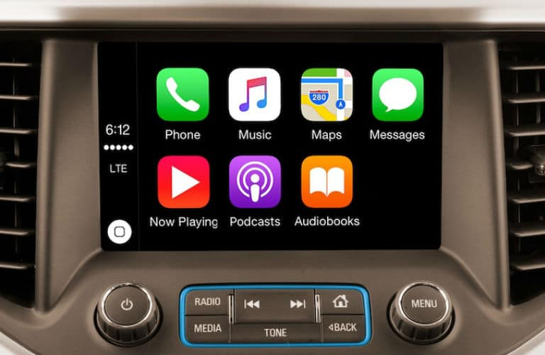 Apple CarPlay screen in 2019 GMC Acadia