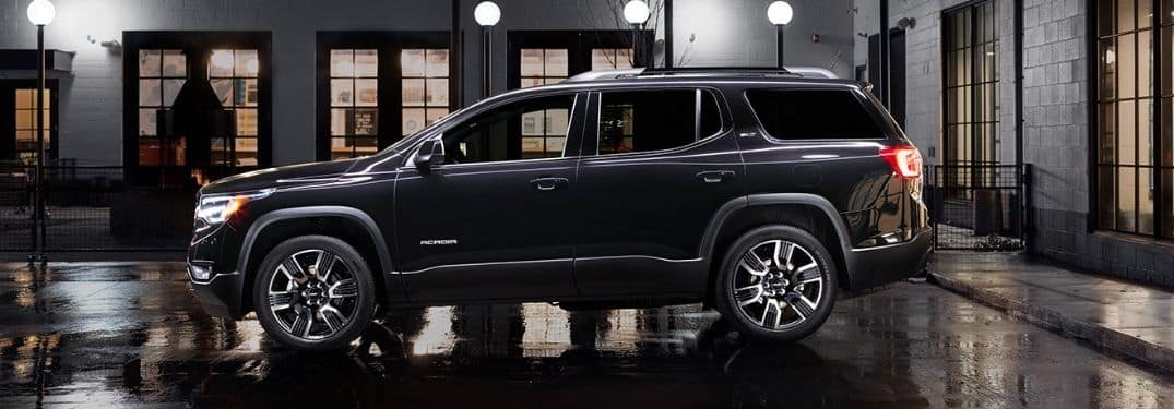 side profile of gray 2019 GMC Acadia