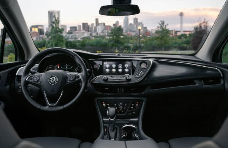 2020 Envision interior front cabin steering wheel and dashboard
