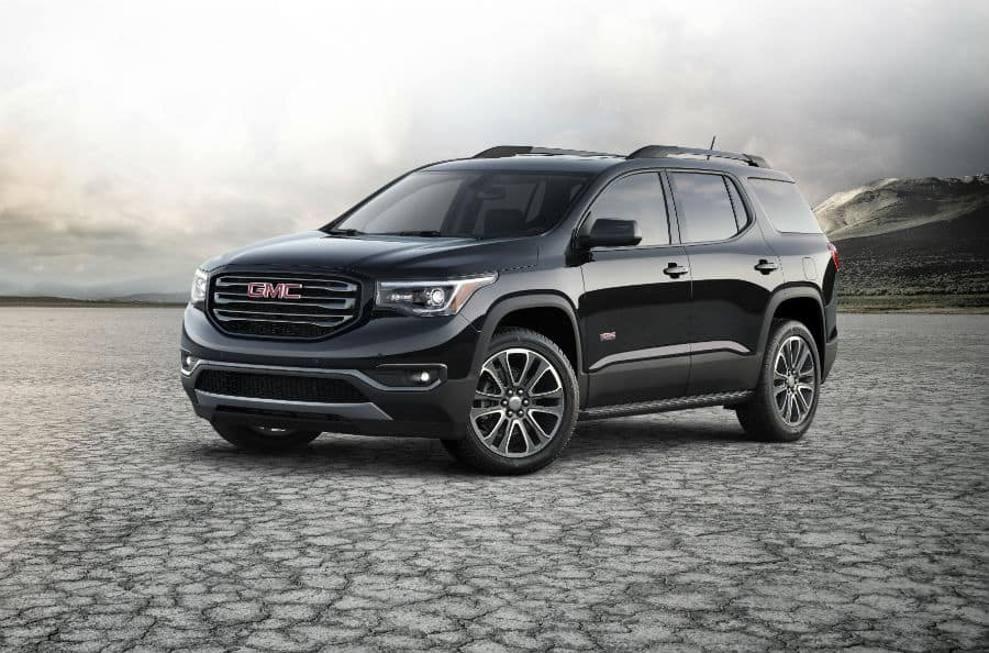 2019 GMC Acadia All Terrain exterior front fascia and driver side