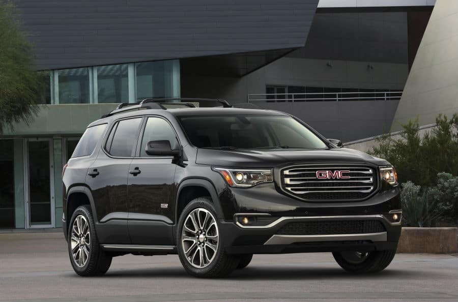 2019 GMC Acadia All Terrain exterior front fascia and passenger side
