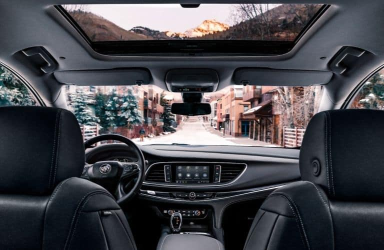 2020 Buick Enclave dashboard viewed from rear seat