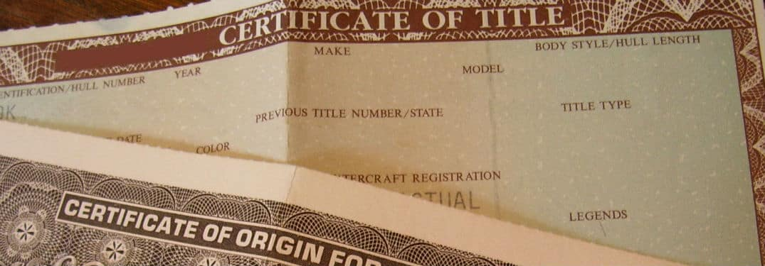 title certificate for car