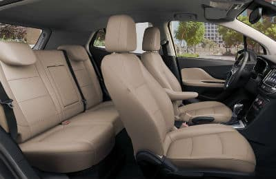 2020-Buick-Encore interior front and rear cabin side view seats