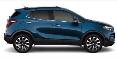 Deep Azure Metallic 2020 Buick Encore exterior passenger side profile