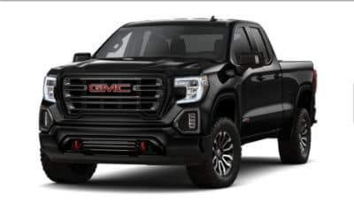 Onyx Black 2020 GMC 1500 exterior front fascia driver side blank background