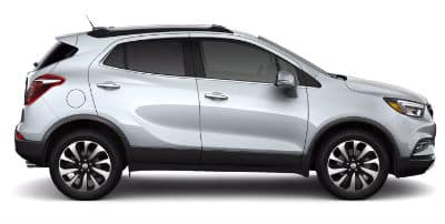Quicksilver Metallic 2020 Buick Encore exterior passenger side profile