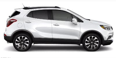 Summit White 2020 Buick Encore exterior passenger side profile
