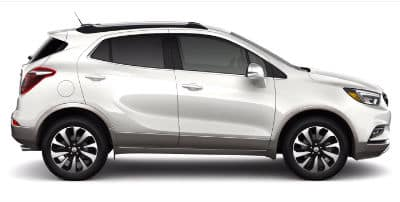 White Trifrost Tricoat 2020 Buick Encore exterior passenger side profile_o