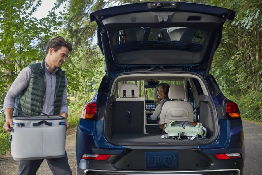 2020 Buick Encore GX Exterior Rear Fascia Tailgate Open Interior Cargo Area