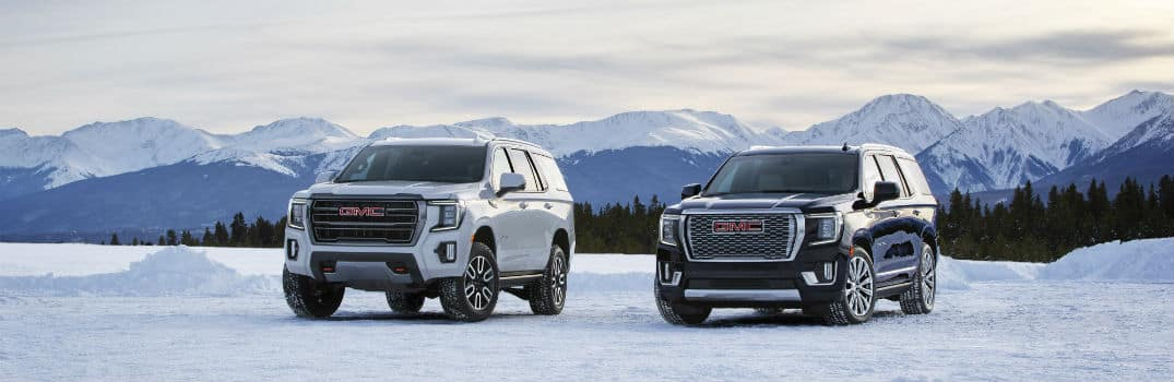 2021 GMC Yukon AT4 & Denali Exterior Driver Side Front Profiles