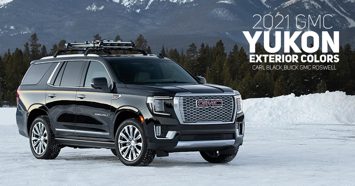2021 GMC Yukon and Yukon XL Color Options | Carl Black Roswell