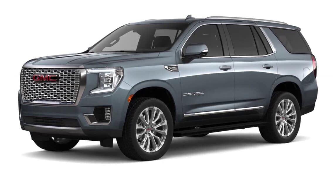 2021 GMC Yukon Satin Steel Metallic Color