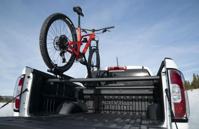 2021 GMC Canyon AT4 Exterior Truck Bed with Bike