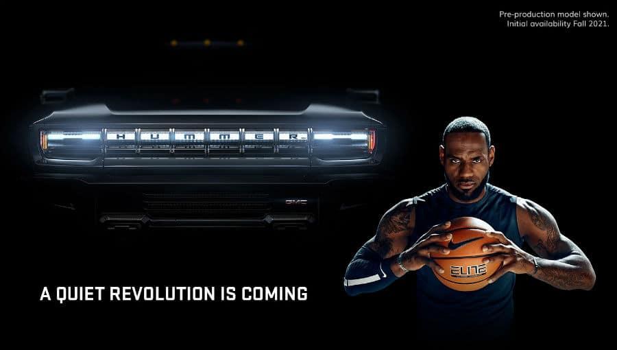 2022 GMC Hummer EV Exterior Front Fascia Grille with LeBron James