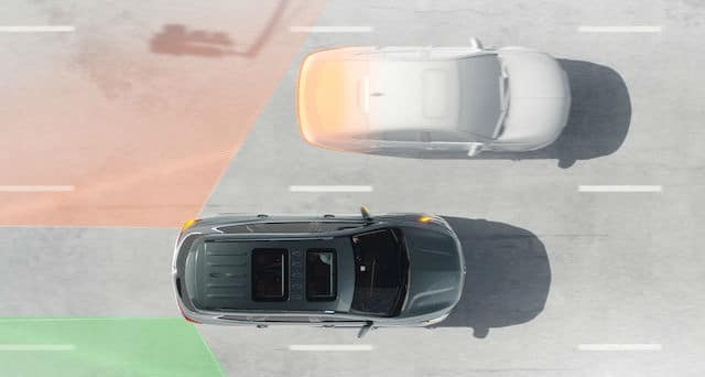 Buck Lane Change Alert with Side Blind Zone Alert Simulation