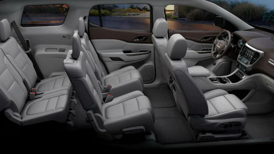 2020 GMC Acadia Interior Cabin Seating & Dashboard