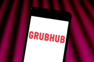 GrubHub App on Smartphone