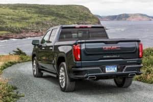 2020 GMC Sierra Denali Exterior Driver Side Rear Angle_o