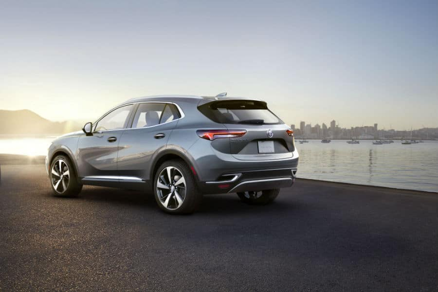 2021 Buick Envision Exterior Driver Side Rear Profile