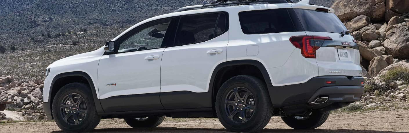 2021 GMC Acadia AT4 Exterior Driver Side Rear Profile