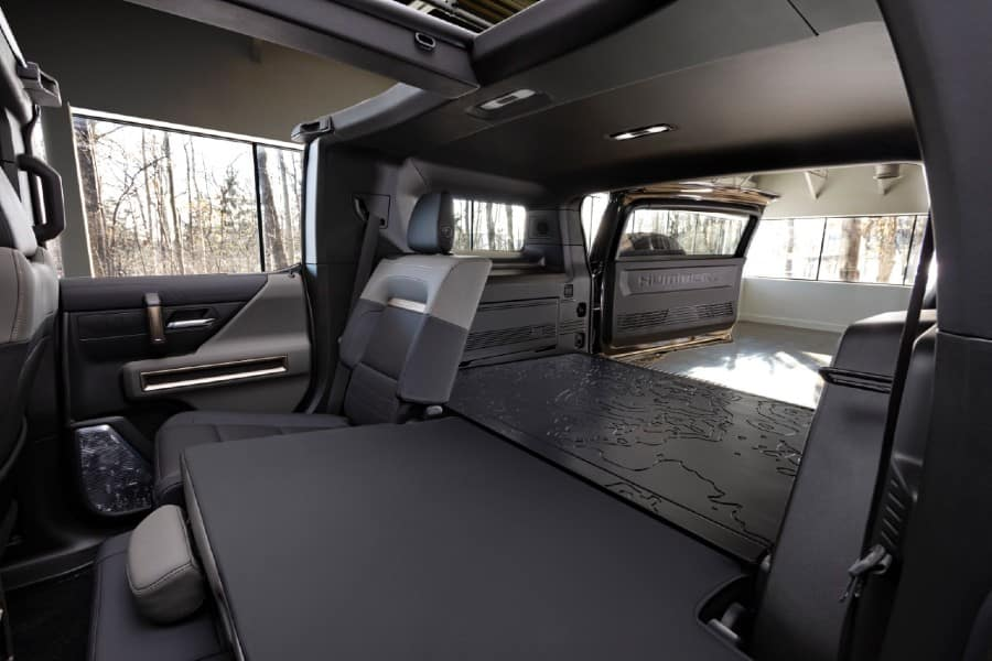 2024 GMC HUMMER EV SUV Interior Cabin Rear Seats Split Folded