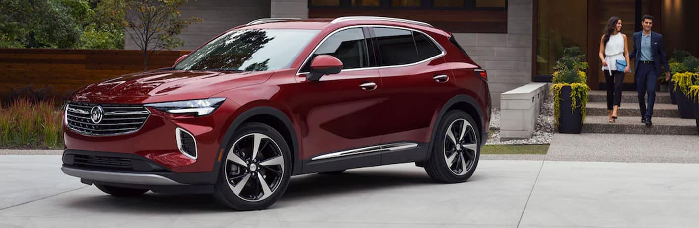 2021 Buick Envision in red side view