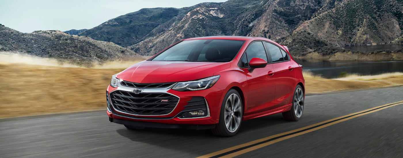 2019 Chevy Cruze driving on the road
