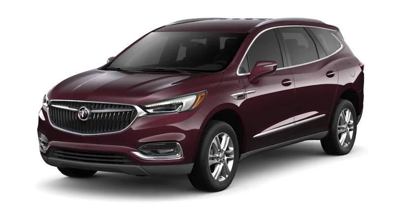 Black Cherry 2019 Buick Enclave