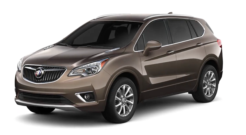 Brown 2019 Buick Envision on white