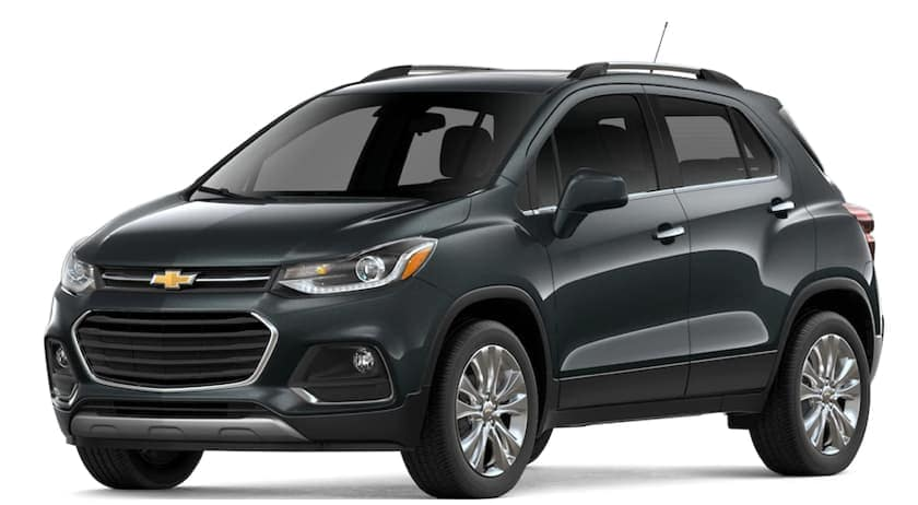 Black 2019 Chevy Trax on white