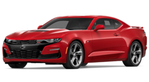 Red 2019 Chevy Camaro on white