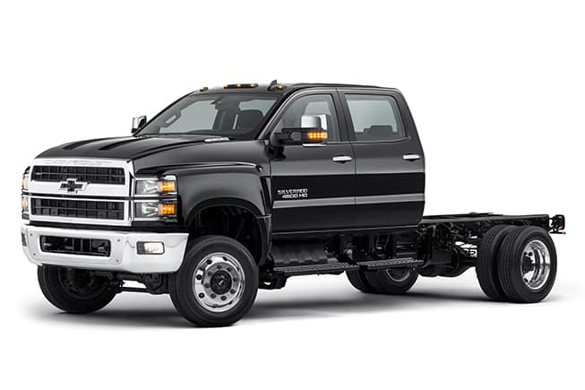 black chevrolet 4500hd work truck